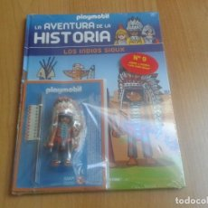 Playmobil: PLAYMOBIL - FIGURAS EXCLUSIVAS - LA AVENTURA DE LA HISTORIA Nº 9 - JEFE INDIO SIUOX - LIBRO + CLICK. Lote 134843113