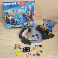 Playmobil: CAJA PLAYMOBIL DELFINARIO ZOO REF 4468 PISCINA DE AGUA . Lote 115250647