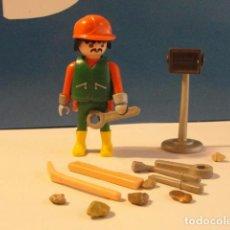 Playmobil: LOTE FIGURA OBRERO OPERARIO CONSTRUCCION MEDIEVAL WESTERN BELEN DIORAMA PLAYMOBIL. Lote 115805067