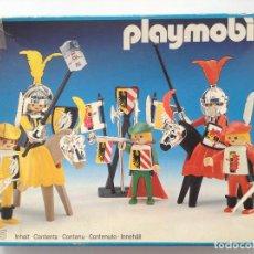 Playmobil: PLAYMOBIL 3265 SOLDADOS CASTILLO TORNEO JUSTAS MEDIEVAL PRIMERA EPOCA COMPLETA EN CAJA. Lote 116274179