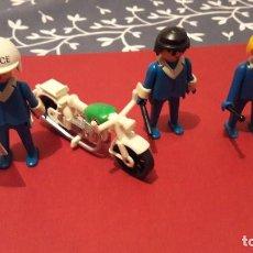 Playmobil: PLAYMOBIL. LOTE 3 POLICIAS CON MOTO. CON ACCESORIOS. GEOBRA 1974. Lote 116644871