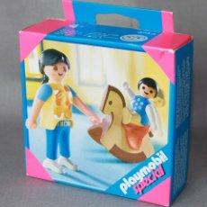 Playmobil: PLAYMOBIL REF. 4744 MAMÁ CON NIÑO Y CABALLITO JUGUETE.. Lote 116684415