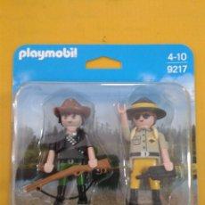 Playmobil: PLAYMOBIL DUO PACK - RANGER Y CAZADOR FURTIVO (PLAYMOBIL 9217). Lote 117232227