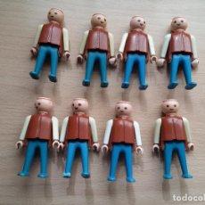 Playmobil: GEOBRA 1974, PETO MARRON ,PANTALONES AZUL, SIN PELO. Lote 117404283
