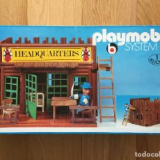 Playmobil: PLAYMOBIL 3429 HEADQUARTERS CUARTEL NORDISTA OESTE WESTERN DESCATALOGADO COMPLETO CAJA. Lote 117731119