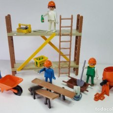 Playmobil: OBREROS ANDAMIO ANTIGUO PLAYMOBIL 3492 ALBAÑIL OBRERO OBRA CONSTRUCCION PEON. Lote 118164827