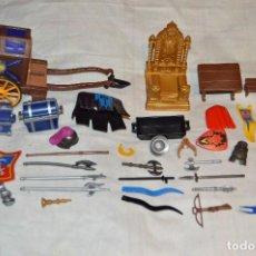 Playmobil: VINTAGE - LOTE DE PIEZAS Y ACCESORIOS VARIADOS MEDIEVAL Y OTROS - PLAYMOBIL - ORIGINAL. Lote 118447859
