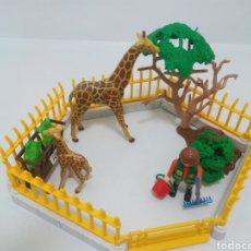 Playmobil: RECINTO ZOO JIRAFA. Lote 118555986