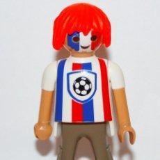 Playmobil: PLAYMOBIL MEDIEVAL FIGURA AFICIONADO FUTBOL. Lote 118589635