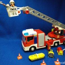 Playmobil: PLAYMOBIL CAMIÓN DE BOMBEROS CON LUCES DE EMERGENCIA REF 4820. Lote 118673187