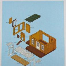 Playmobil: PLAYMOBIL DIFICIL MANUAL INSTRUCCIONES DE MONTAJE GRANJA CASA DE CAMPO OESTE WESTERN 3769 AÑO 1987. Lote 118870276