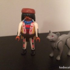 Playmobil: PLAYMOBIL LOTE INDIO Y LOBO. Lote 120038828