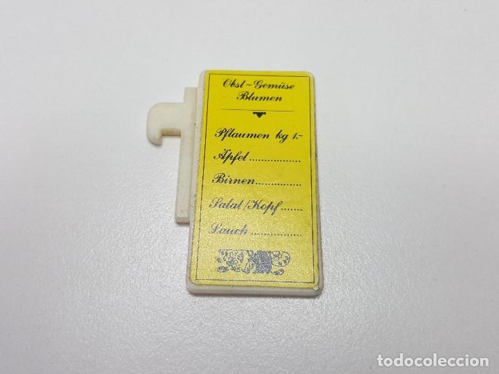 CARTEL TABLA PRECIOS PLAYMOBIL 3296 PUESTO MERCADO TENDERETE MEDIEVAL 01 (Juguetes - Playmobil)