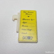 Playmobil: CARTEL TABLA PRECIOS PLAYMOBIL 3296 PUESTO MERCADO TENDERETE MEDIEVAL 01. Lote 120196623