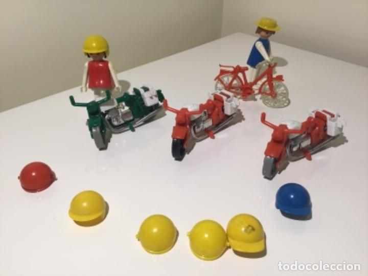 LOTE MOTOS, BICICLETA Y COMPLEMENTOS FAMOBIL PLAYMOBIL (Juguetes - Playmobil)