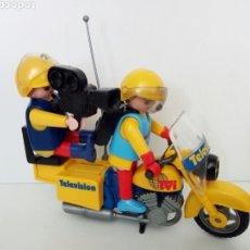 Playmobil: PLAYMOBIL. ANTIGUA MOTO DE TV. CON PILOTO Y OPERADOR DE CÁMARA. Lote 120808319