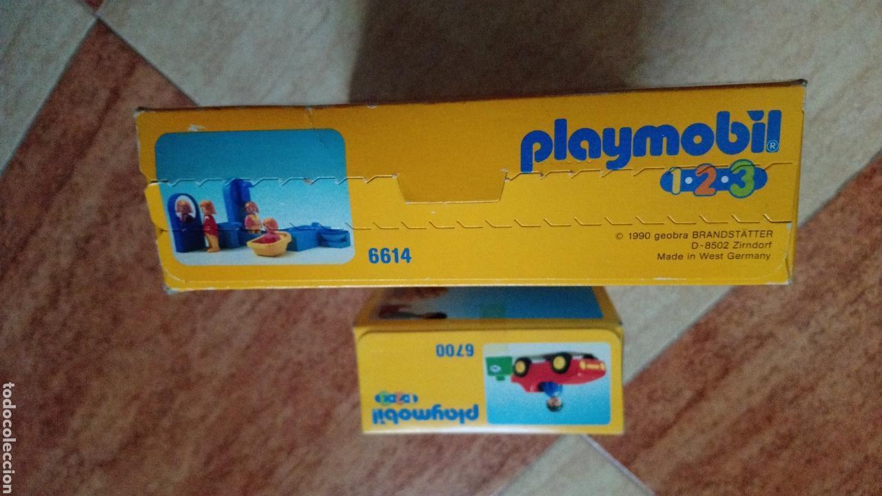 Playmobil: Lote Playmobil 1,2,3 - 6614 (Cuarto de baño) y 6700 (Coche deportivo rojo) - 1990 - NUEVO SIN ABRIR - Foto 3 - 121537016