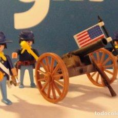 Playmobil: LOTE FIGURA CAÑON NORDISTA CON TRES SOLDADOS MEDIEVAL WESTERN OESTE DIORAMA BELEN PLAYMOBIL. Lote 121736275