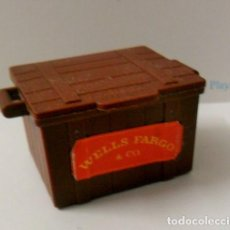 Playmobil: PLAYMOBIL C015 CAJA MADERA OESTE WELLS FARGO IDEAL ESCENAS. Lote 122156315