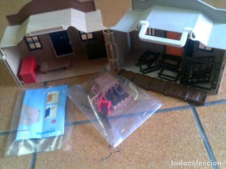 Playmobil: BANCO DEL OESTE DE PLAYMOBIL ESTA CASI COMPLETO VER FOTOS - Foto 2 - 122893411