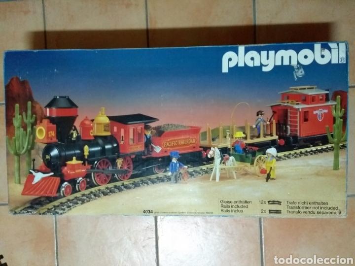 PLAYMOBIL 4034. TREN DEL OESTE. COMPLETO 100%. (Juguetes - Playmobil)