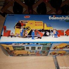 Playmobil: CAMIÓN BASURA SERVICIO DE LIMPIEZA FAMOBIL REF. 3470 COMPLETO. Lote 124225900