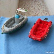 Playmobil: 2 PIEZAS PLAYMOBIL,LANCHA Y BARCO,TAL Y COMO SE VEN. Lote 124410467