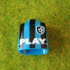 Playmobil: PLAYMOBIL CUERPO TORSO FUTBOLISTA INTER AZUL NEGRO FUTBOL DEPORTES CIUDAD. Lote 125233891
