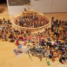 Playmobil: PLAYMOBIL ANFITEATRO ROMANO.ESPECTACULAR LOTE DE GLADIADORES,ROMANOS,GLADIATOR,ACCESORIOS Y MAS..... Lote 125241027
