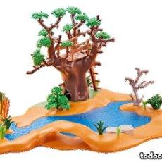 Playmobil: LAGO CON PUESTO DE OBSERVACIÓN. Lote 125866567