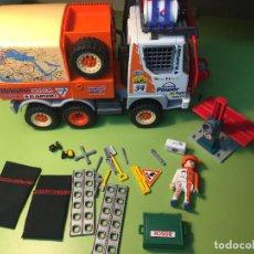 Playmobil: 4420 CAMIÓN RALLY FOTO AÑADIDA CLICK NEGRO MUÑEQUERAS. Lote 125084263