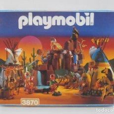 Playmobil: PLAYMOBIL, POBLADO INDIO, REF 3870 CAJA ORIGINAL COMPLETO, SIN JUGAR. Lote 127902222