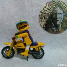 Playmobil: PLAYMOBIL - PILOTO Y MOTO DE CROSS.. Lote 127593831