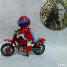 Playmobil: PLAYMOBIL - PILOTO Y MOTO DE CROSS.. Lote 127593943
