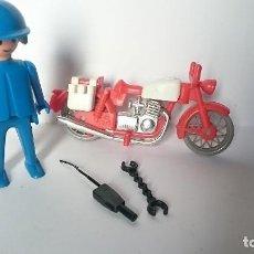 Playmobil: CLICK MOTO MOTERO FAMOBIL PLAYMOBIL GEOBRA 1974 . Lote 127647919