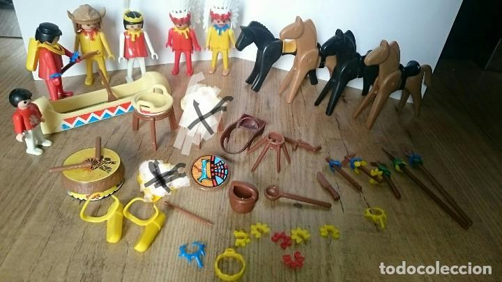 LOTE CLICKS INDIOS FAMOBIL PLAYMOBIL GEOBRA 1974 (Juguetes - Playmobil)