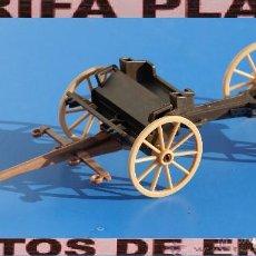 Playmobil: CARRO CARRETA REMOLQUE DE PLAYMOBIL USADO TAL Y COMO SE VE CON DEPERFECTOS RUEDA TRASERA DERECH. Lote 127820487