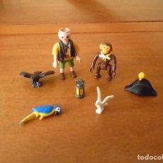 Playmobil: LOTE DE FIGURAS PLAYMOBIL. PIRATA Y ANIMALES. LO QUE SE VE EN LA FOTO.. Lote 128297471