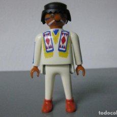 Playmobil: PLAYMOBIL FIGURA INDIO OESTE CARA PINTADA. Lote 131590982