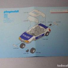 Playmobil: INSTRUCCIONES PLAYMOBIL 3904 COCHE POLICIA. Lote 129458947