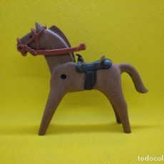 Playmobil: PLAYMOBIL CABALLO MARRÓN OSCURO CON SILLA DEL OESTE. Lote 129557191