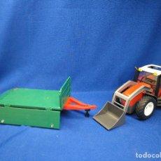 Playmobil: PLAYMOBIL TRACTOR CON REMOLQUE REF 4496. Lote 129560007