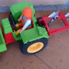 Playmobil: PLAYMOBIL TRACTOR ARADO AGRICULTOR VEHÍCULO GRANJA . Lote 130091175
