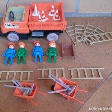 Playmobil: PLAYMOBIL FAMOBIL CAMIÓN OBRAS OBREROS 3203. Lote 130094943