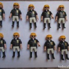 Playmobil: LOTE 10 FIGURAS POLICIA PLAYMOBIL. Lote 130147499