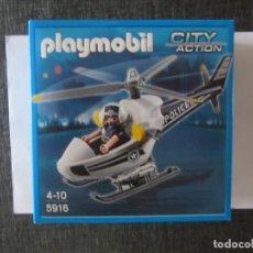 Playmobil: HELICOPTERO POLICIA 5916 PLAYMOBIL. NUEVO EN CAJA. Lote 130147967