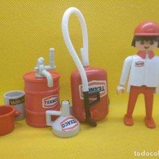 Playmobil - Playmobil Mecánico Texaco con accesorios, click de manos fijas - 130551642