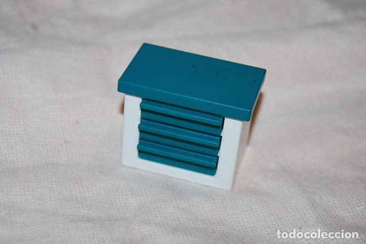 Playmobil. Gavetero mesa blanco - azul verde. X System. Mesa. oficina.  city. Oferta!!