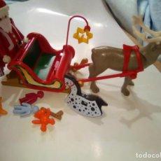 Playmobil: PLAYMOBIL. PAPÁ NOEL CON TRINEO DE RENO Y JUGUETES. . Lote 130707619