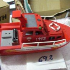 Playmobil: LANCHA RESCATE BOMBEROS GRAN TAMAÑO. Lote 130875948